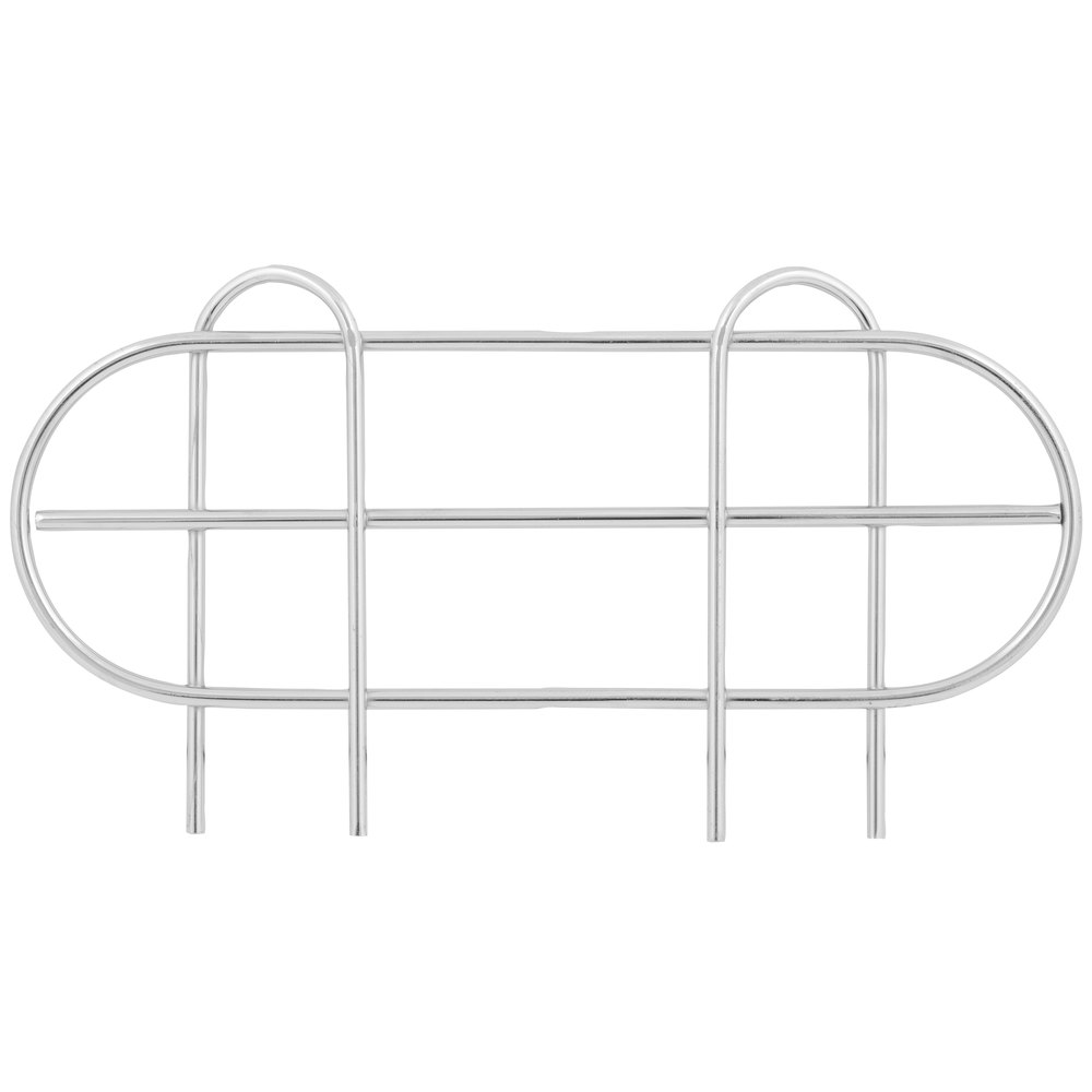 Regency 14 inch Chrome Wire Shelf Ledge for Wire Shelving - 11 1/2 inch x 4 inch