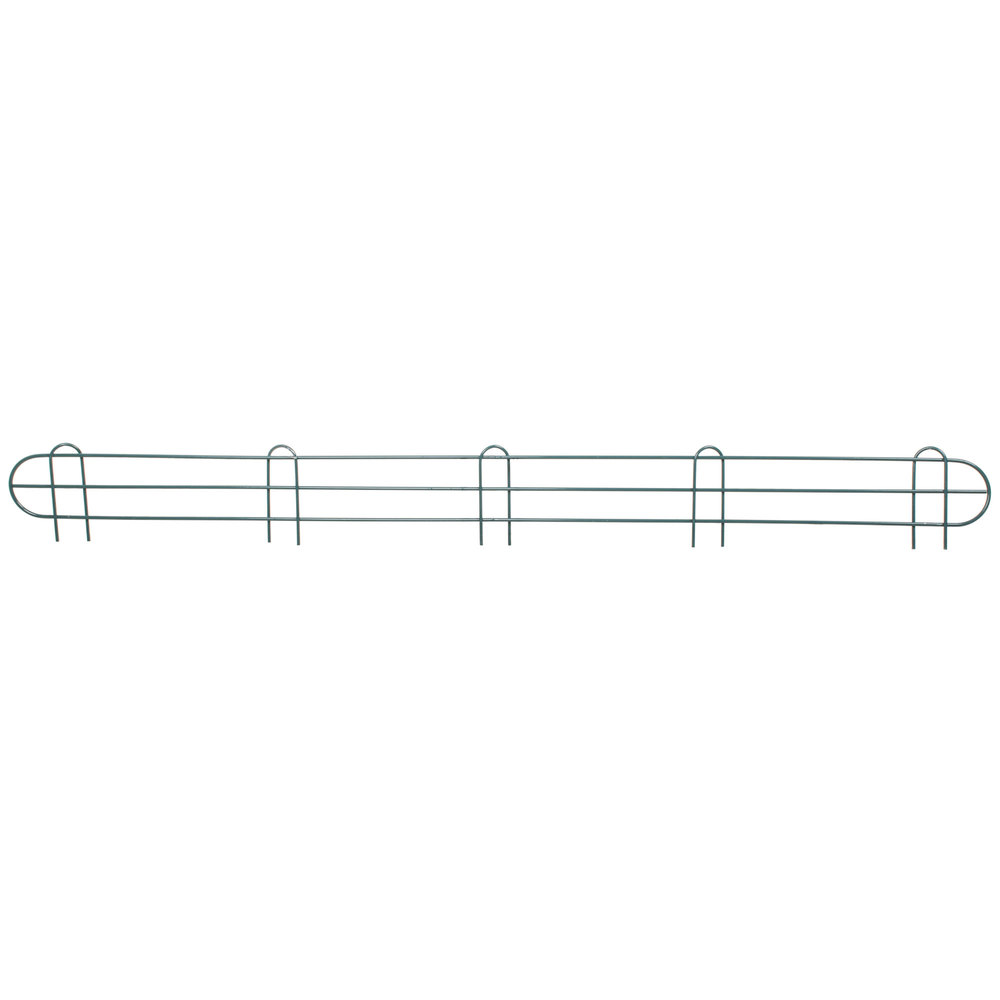 Regency 60 inch Green Epoxy Wire Shelf Ledge for Wire Shelving - 60 inch x 4 inch