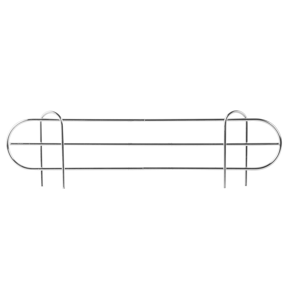 Regency 24 inch Chrome Wire Shelf Ledge for Wire Shelving - 24 inch x 4 inch