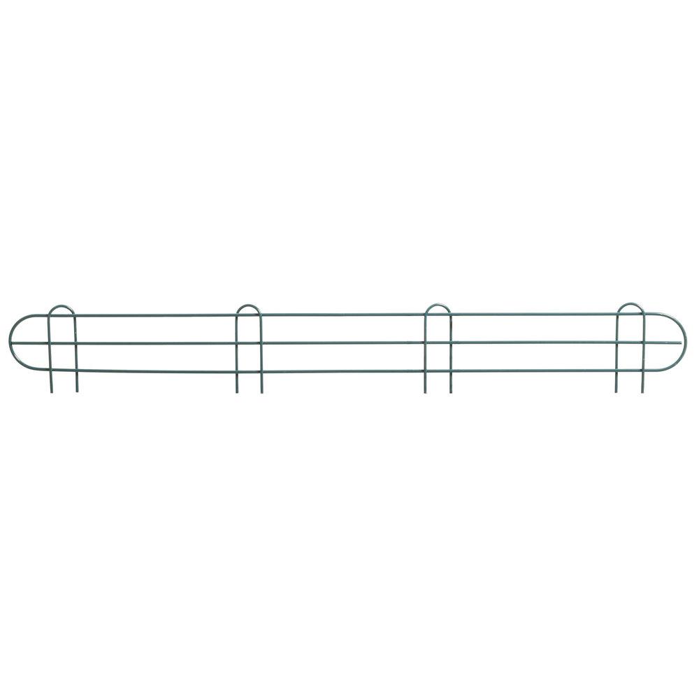 Regency 48 inch Green Epoxy Wire Shelf Ledge for Wire Shelving - 48 inch x 4 inch