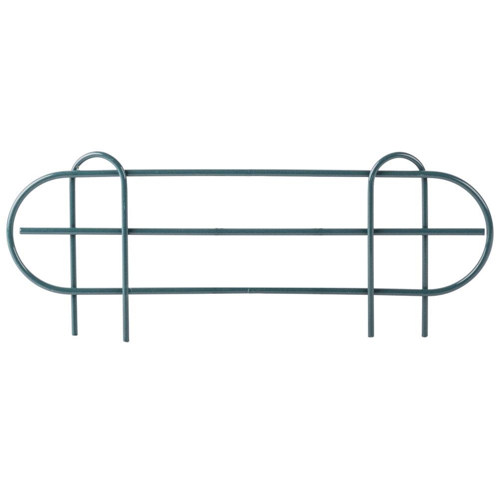 Regency 18 inch Green Epoxy Wire Shelf Ledge for Wire Shelving - 18 inch x 4 inch