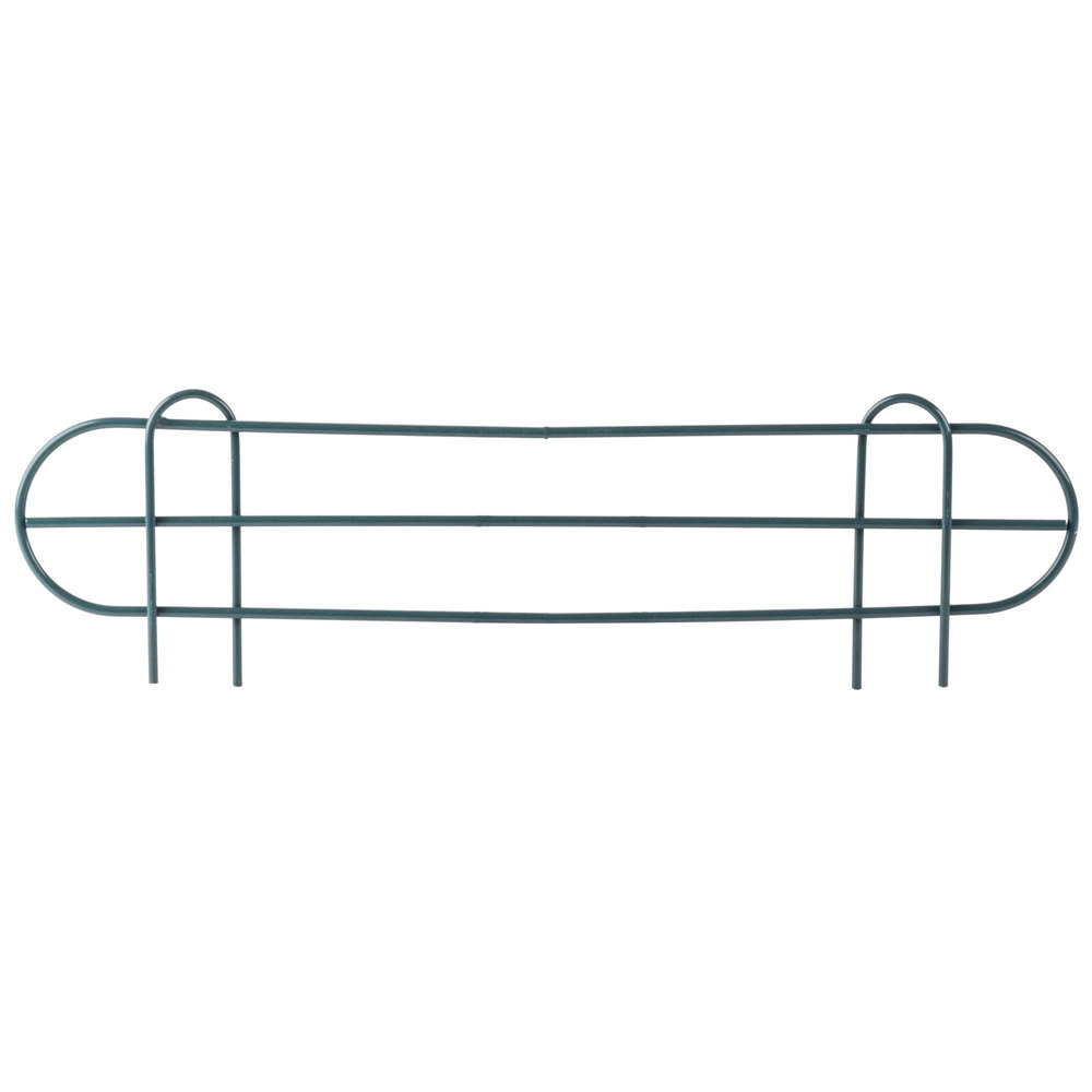 Regency 24 inch Green Epoxy Wire Shelf Ledge for Wire Shelving - 24 inch x 4 inch