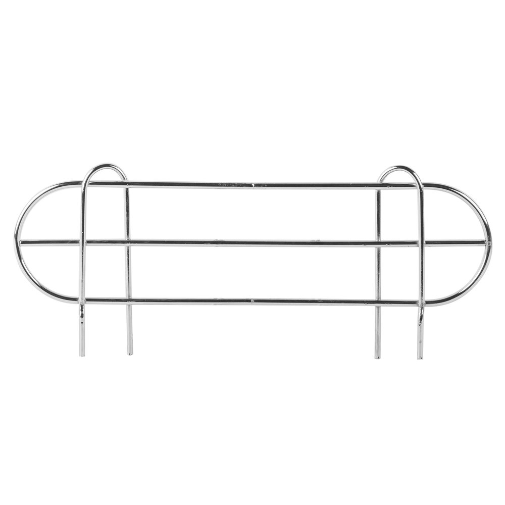 Regency 18 inch Chrome Wire Shelf Ledge for Wire Shelving - 15 1/2 inch x 4 inch