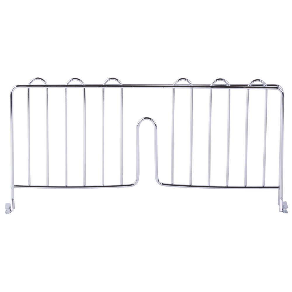 Regency 24 inch Chrome Wire Shelf Divider for Wire Shelving - 24 inch x 8 inch