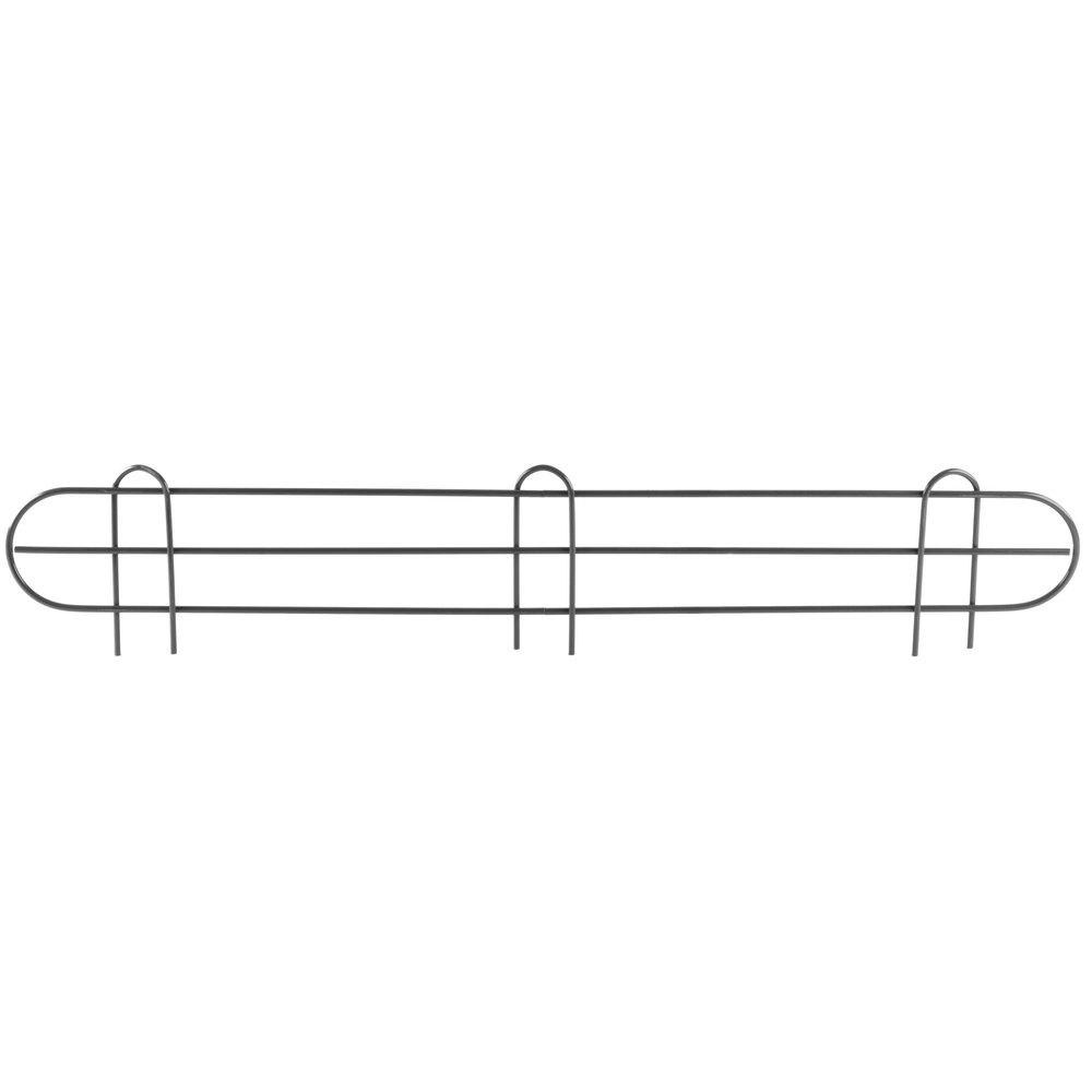 Regency 36 inch Black Epoxy Wire Shelf Ledge for Wire Shelving - 36 inch x 4 inch