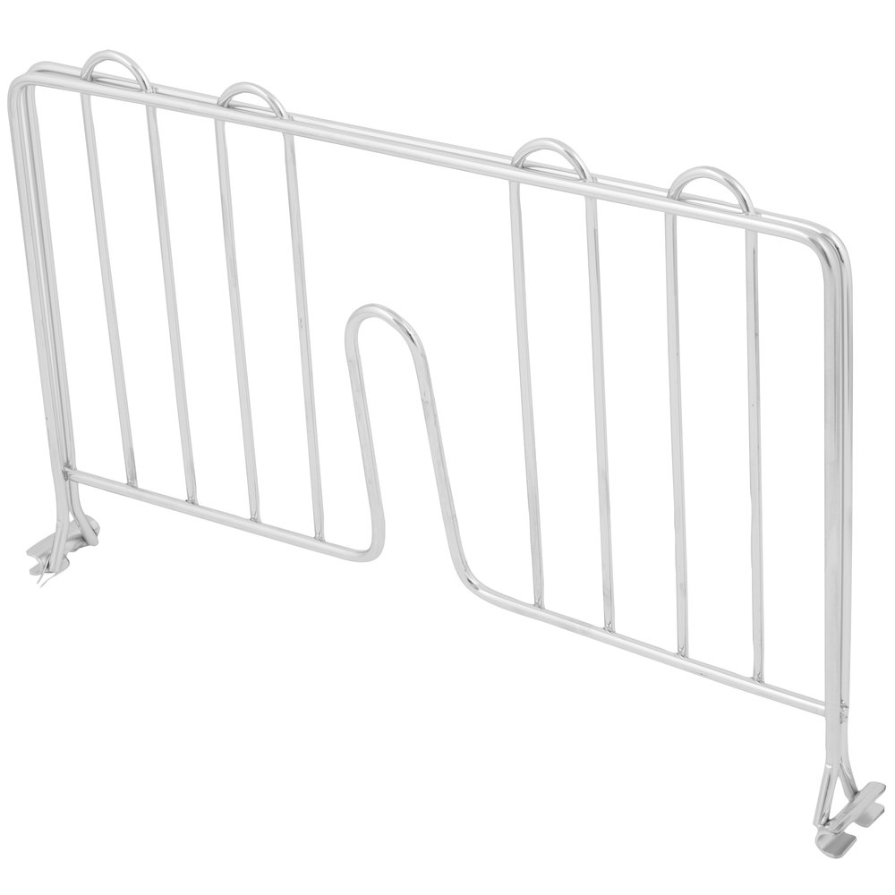 Regency 14 inch Chrome Wire Shelf Divider for Wire Shelving - 14 inch x 8 inch