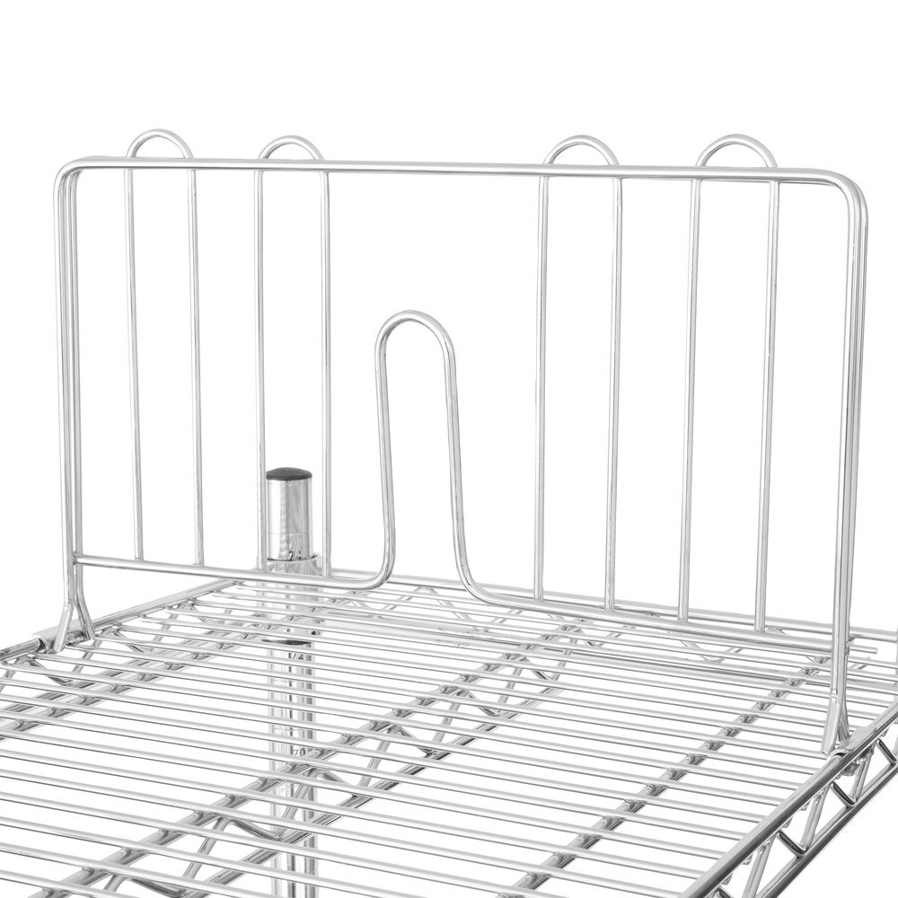 regency 14 u0026quot  chrome wire shelf divider for wire shelving
