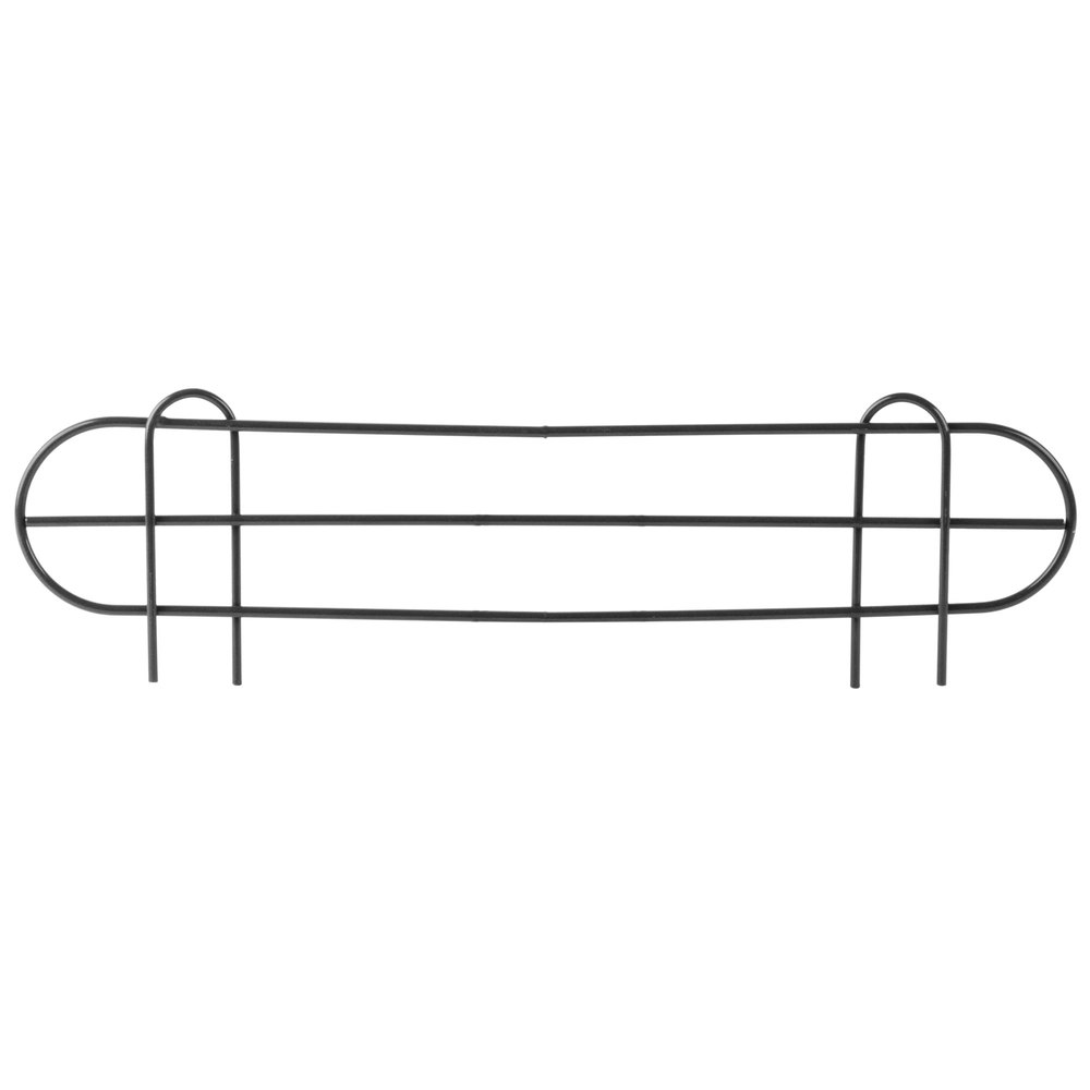 Regency 24 inch Black Epoxy Wire Shelf Ledge for Wire Shelving - 24 inch x 4 inch