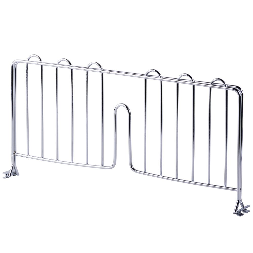 Regency 18 inch Chrome Wire Shelf Divider for Wire Shelving - 18 inch x 8 inch