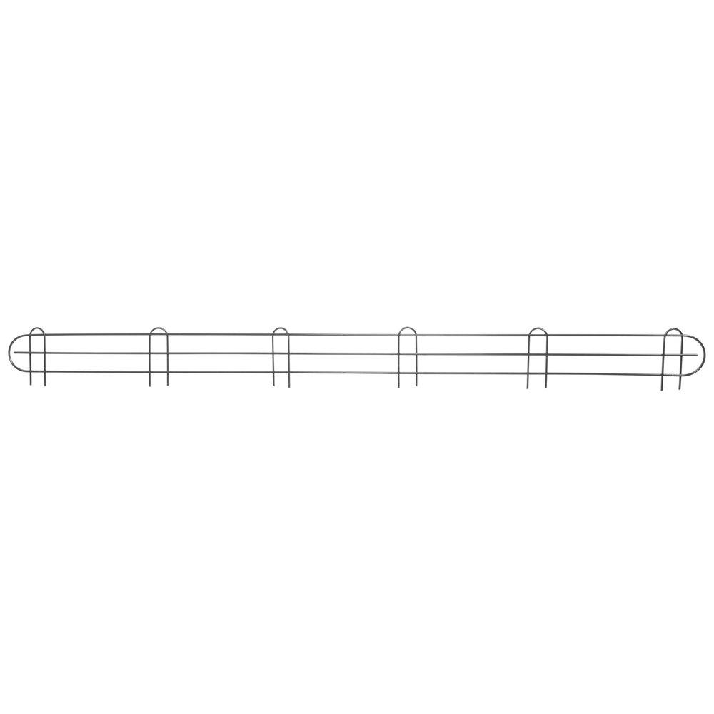 Regency 72 inch Black Epoxy Wire Shelf Ledge for Wire Shelving - 72 inch x 4 inch