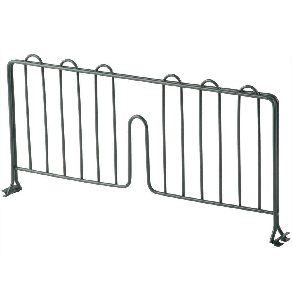 Regency 18 inch Green Epoxy Wire Shelf Divider for Wire Shelving - 18 inch x 8 inch