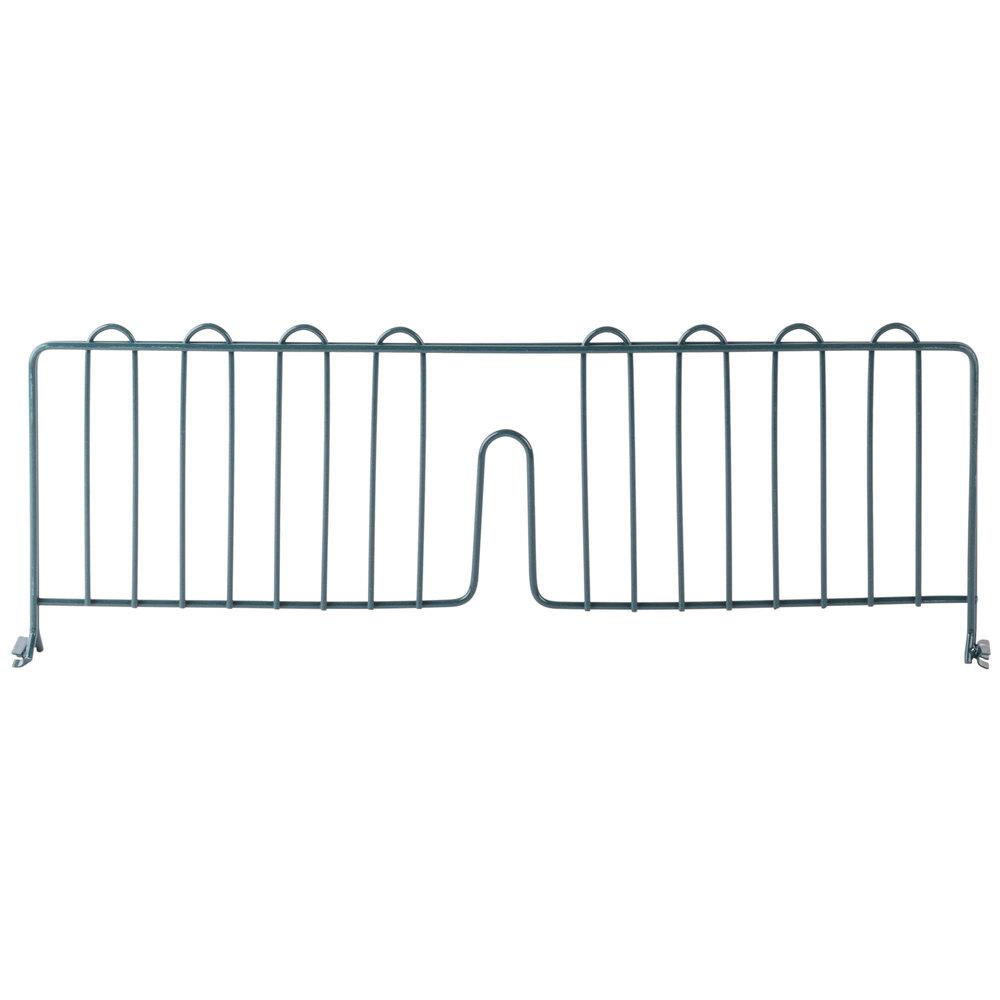 Regency 24 inch Green Epoxy Wire Shelf Divider for Wire Shelving - 24 inch x 8 inch