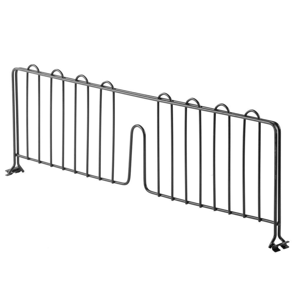 Regency 24 inch Black Epoxy Wire Shelf Divider for Wire Shelving - 24 inch x 8 inch