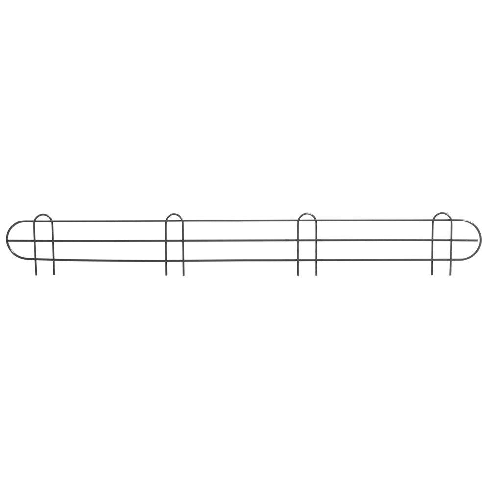 Regency 48 inch Black Epoxy Wire Shelf Ledge for Wire Shelving - 48 inch x 4 inch