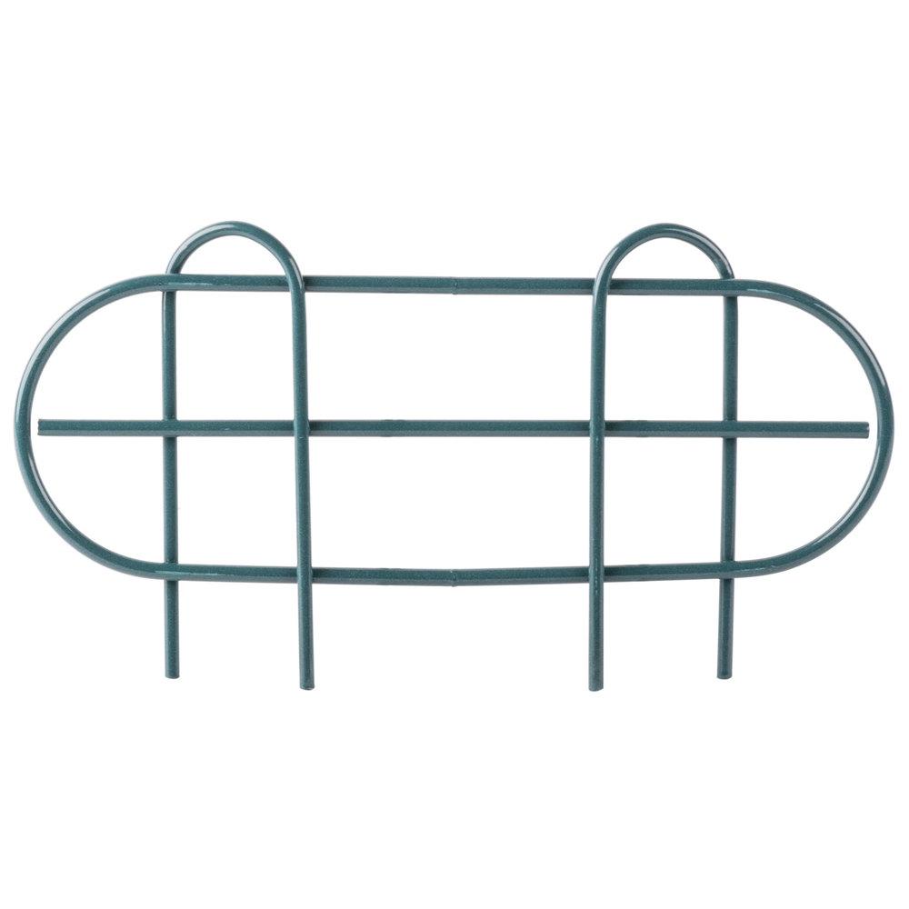 Regency 14 inch Green Epoxy Wire Shelf Ledge for Wire Shelving - 14 inch x 4 inch