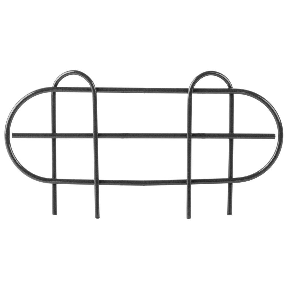 Regency 14 inch Black Epoxy Wire Shelf Ledge for Wire Shelving - 14 inch x 4 inch