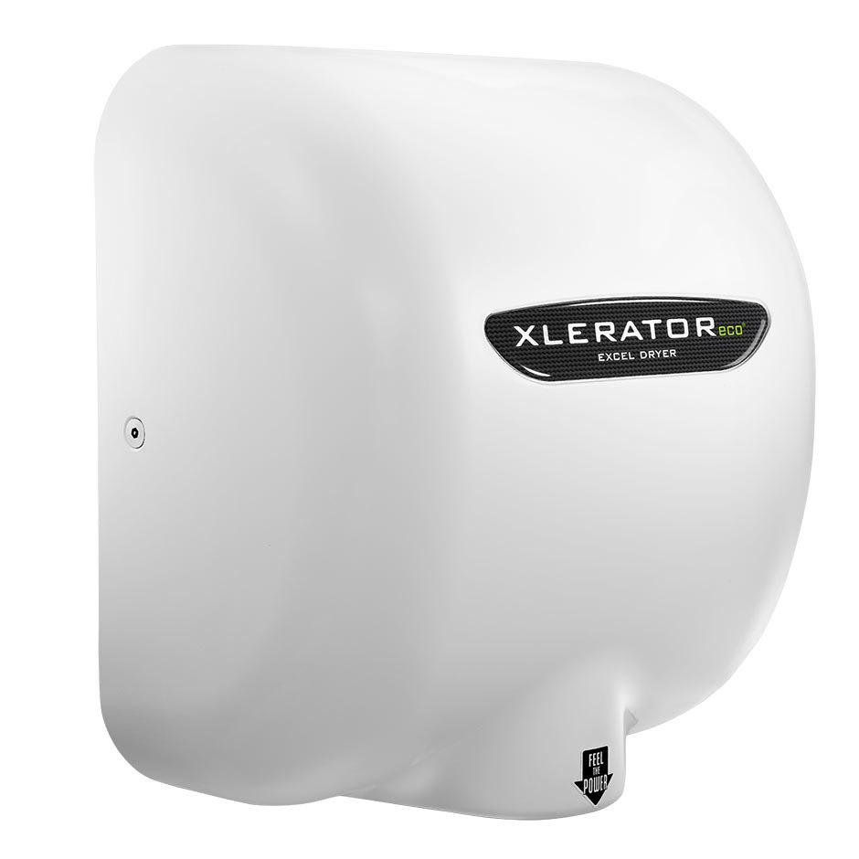 excel xl bw eco xlerator white energy efficient hand dryer w main picture acircmiddot image preview