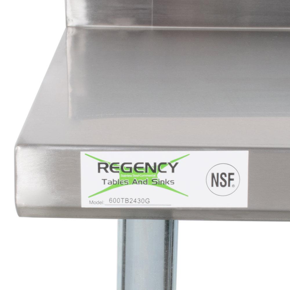 regency 24 x 30 18 gauge 304 stainless steel commercial