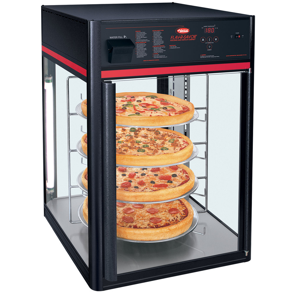 Hatco FSDT4TCR 4-Tier Circle Display Rack With Pizza Pan Retainers ...