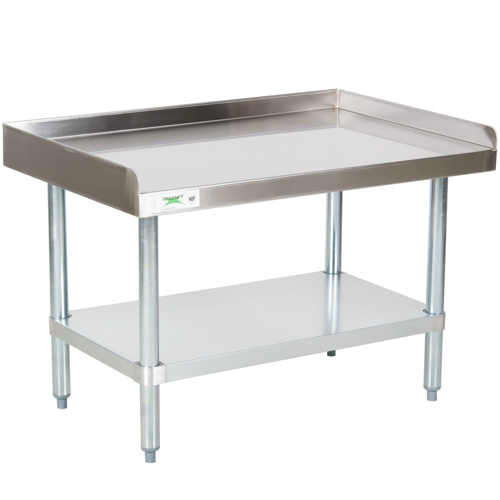 Regency 24 inch x 36 inch 16-Gauge Stainless Steel Equipment Stand with Galvanized Undershelf