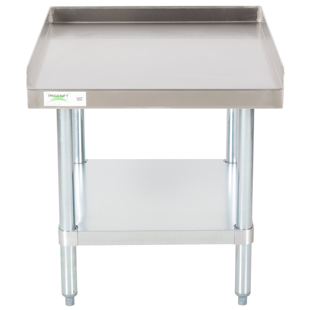 Regency 30 inch x 24 inch 16-Gauge Stainless Steel Equipment Stand with Galvanized Undershelf
