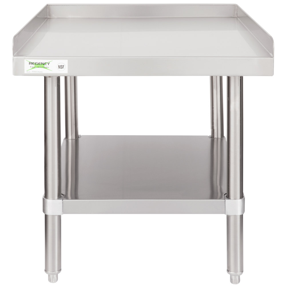 Regency 30 inch x 24 inch 16-Gauge Stainless Steel Equipment Stand with Undershelf