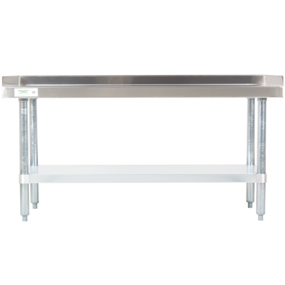 Regency 24 inch x 48 inch 16-Gauge Stainless Steel Equipment Stand with Galvanized Undershelf