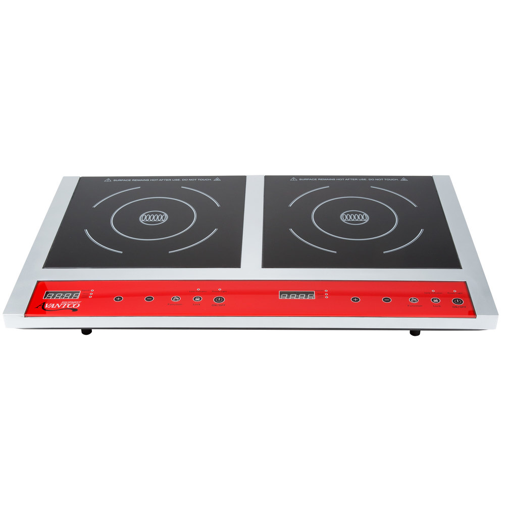 120 Volts Avantco IC18DB Double Countertop Induction Range / Cooker   120V,  ...