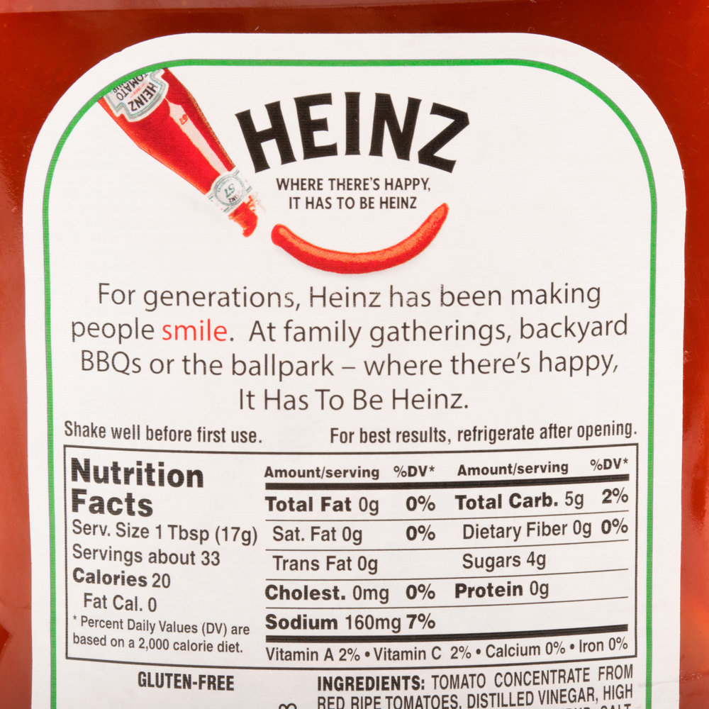 Heinz Ketchup 20 Oz Upside Down Squeeze Bottle 12 Case