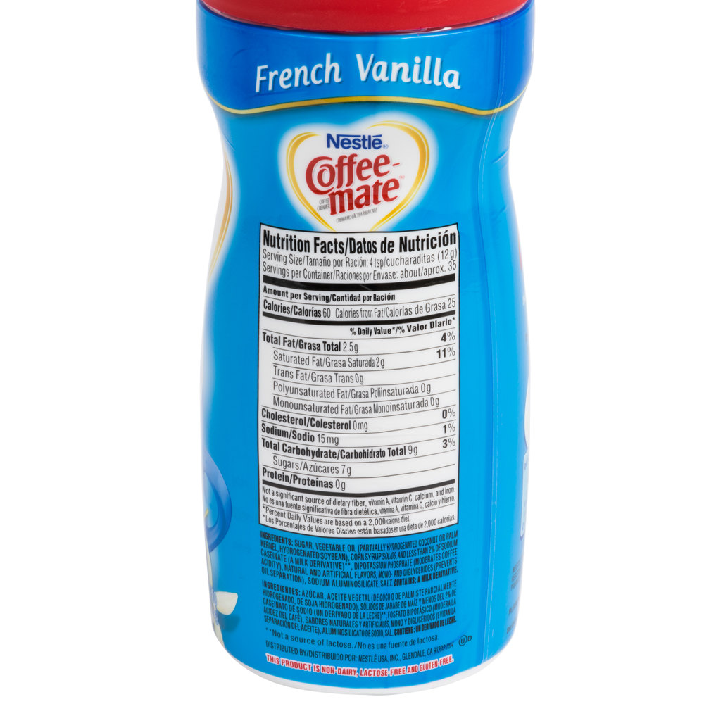 Coffee Mate Creamer Nutrition Facts Blog Dandk