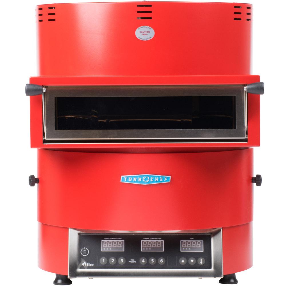 208 240 Volts Turbochef Fire Fre 9500 1 Red Countertop Pizza Oven