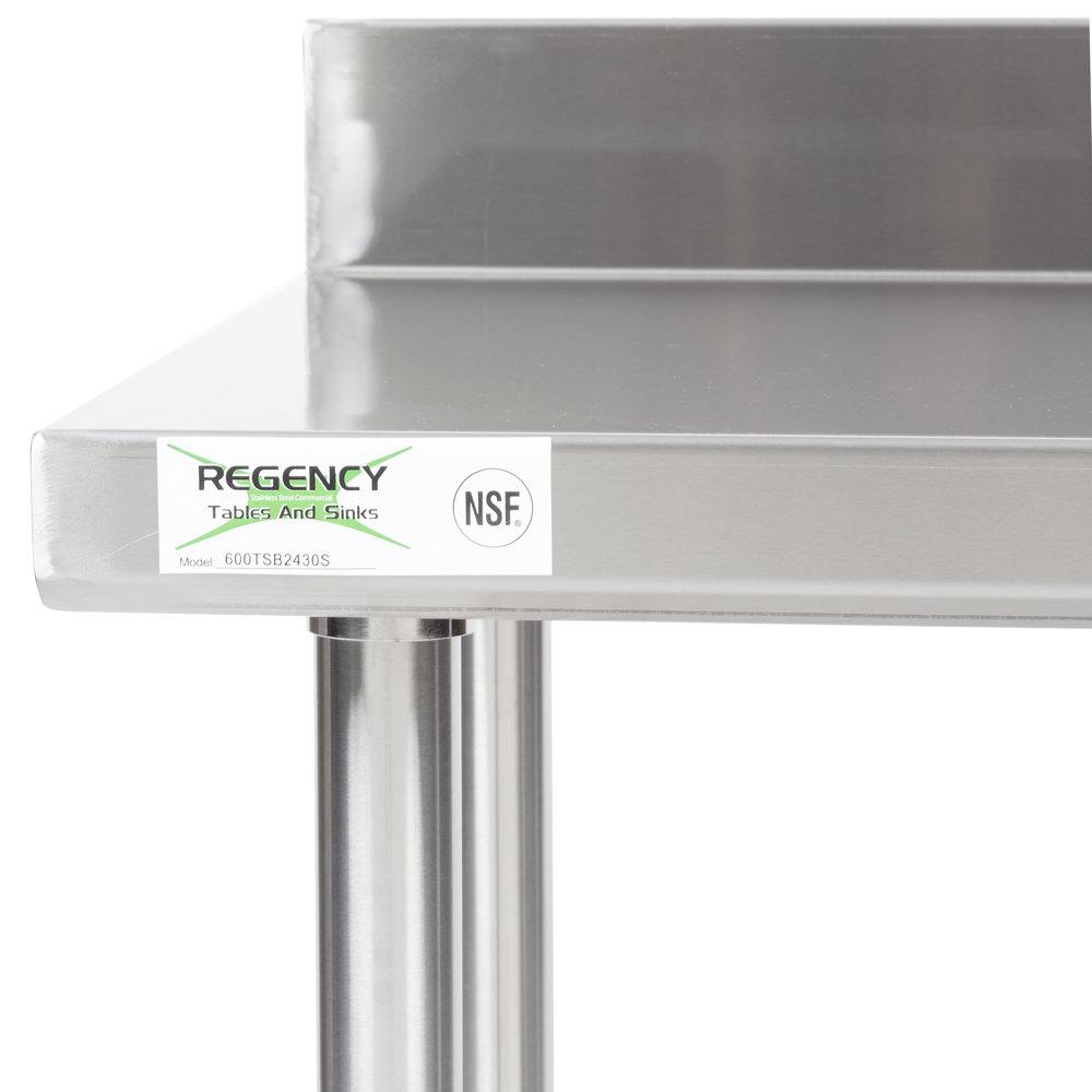 regency 24 x 30 16 gauge stainless steel commercial work