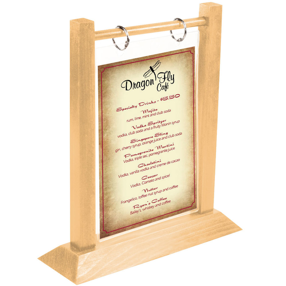 ... Wood Flip Top Table Tent. Main Picture; Image Preview; Image Preview ...  sc 1 st  WebstaurantStore & Menu Solutions WFT4S-A 4