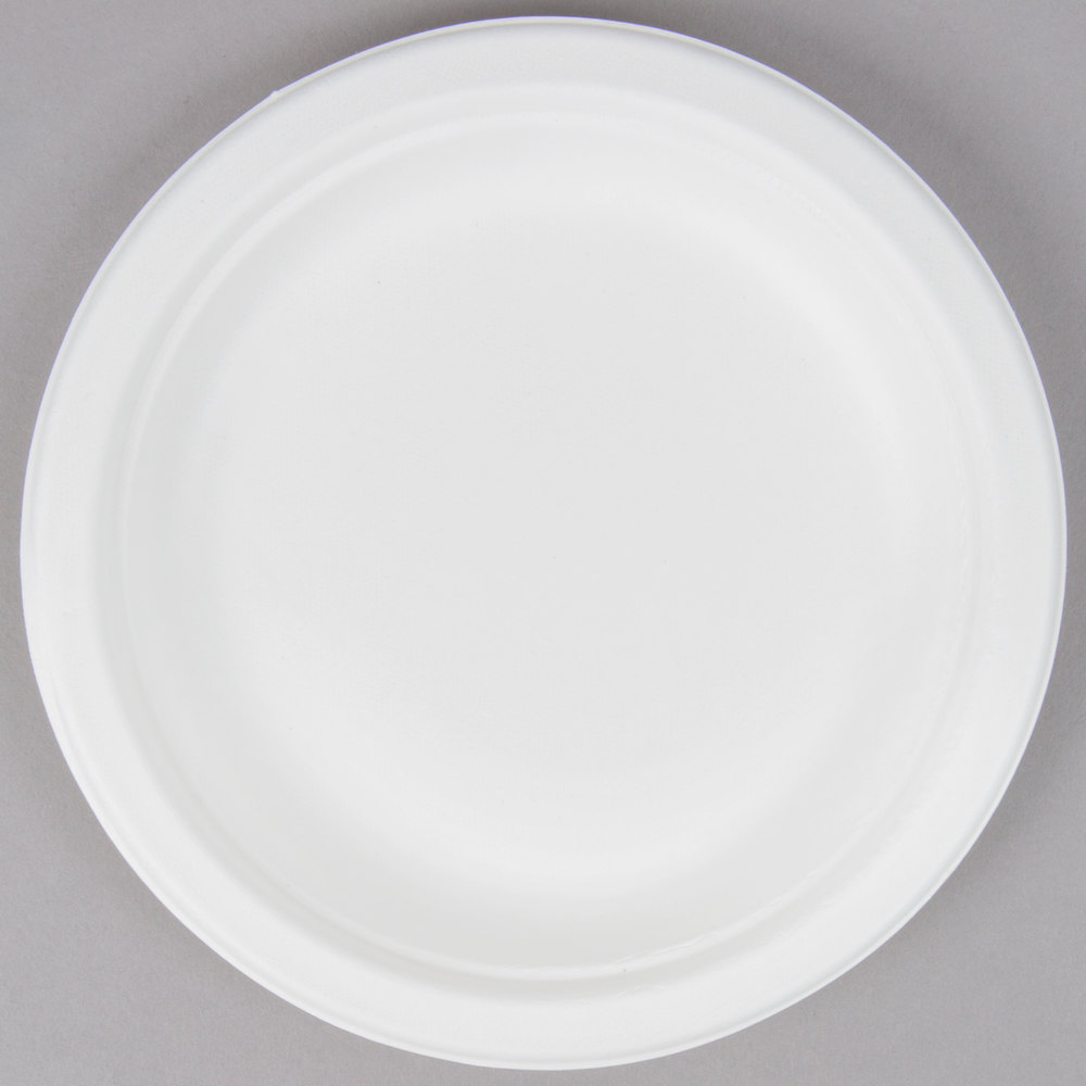 EcoChoice Biodegradable Compostable Sugarcane / Bagasse 6 inch Plate - 1000/Case ... & Disposable Serving Trays - WebstaurantStore