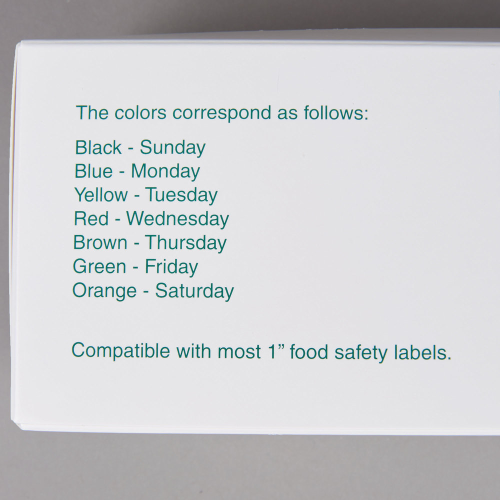 Noble Products 3 4 Quot And 1 Quot Day Of The Week Label Dispenser