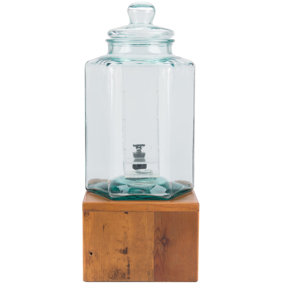 Cal Mil 3422 2inf 2 Gallon Vintage Glass Beverage