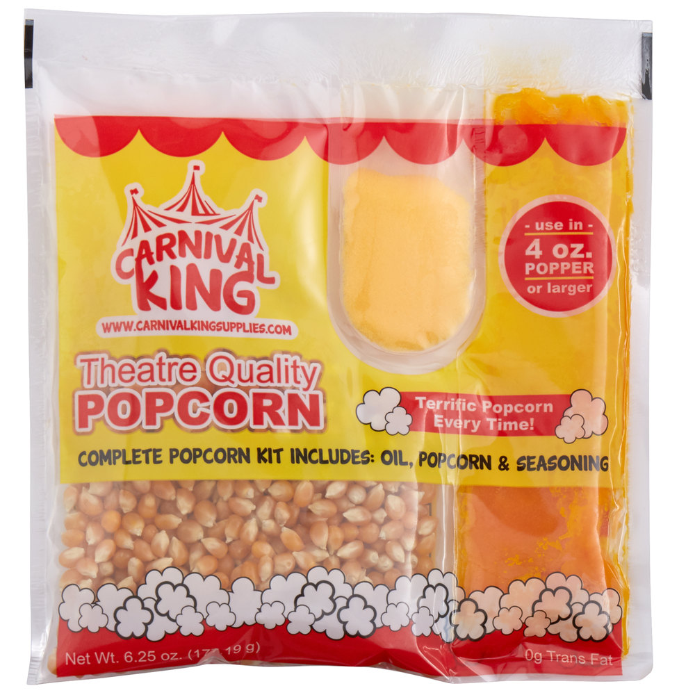 Carnival King All-In-One Popcorn Kit for 4 oz. Popper - 24/Case