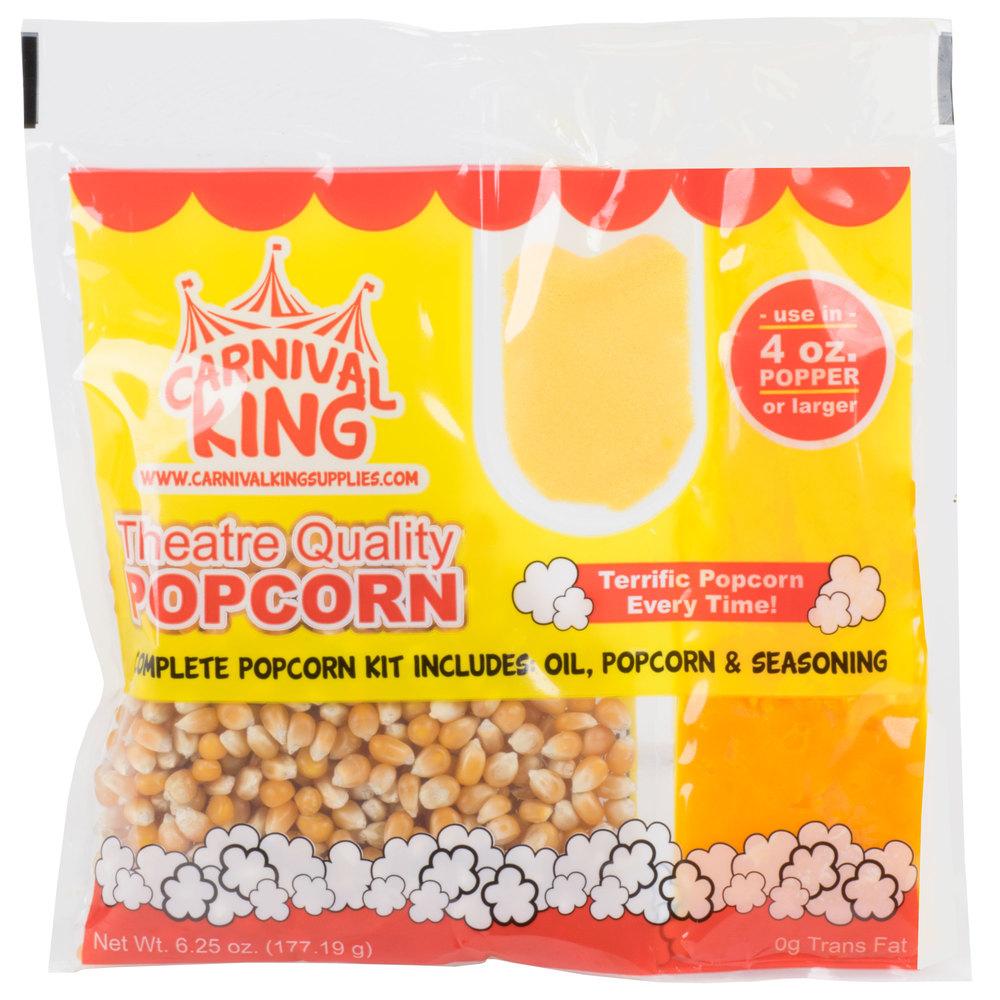 Carnival King All-In-One Popcorn Kit for 4 oz. Popper - 48/Case