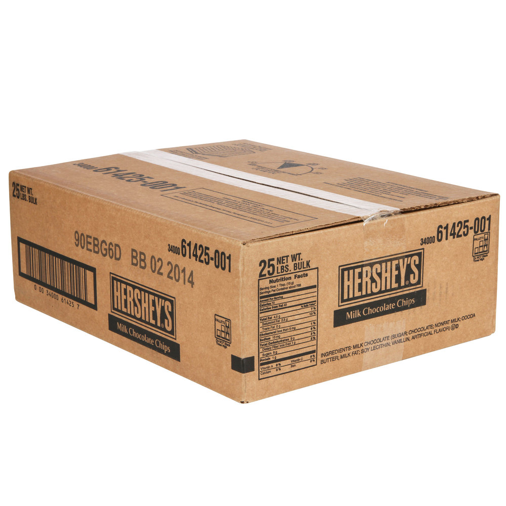 HERSHEY'S® Milk Chocolate Baking Chips - 25 lb.