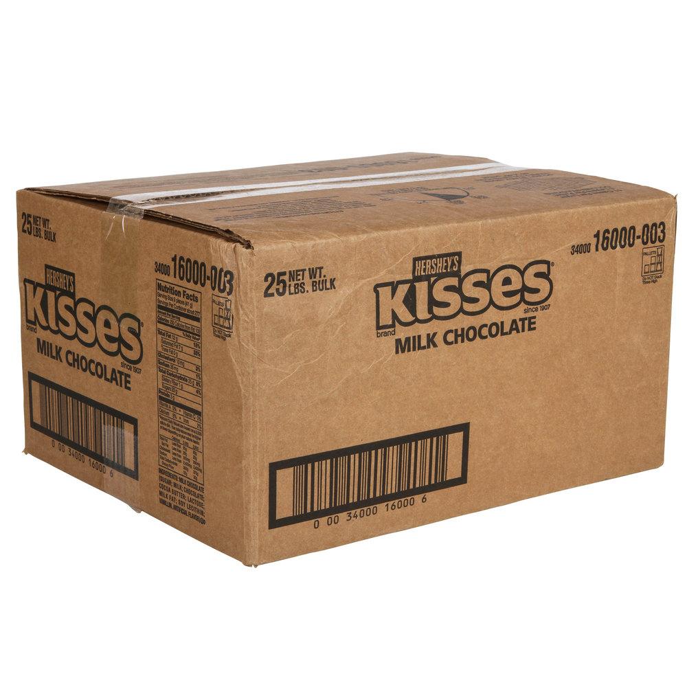 HERSHEY'S® Milk Chocolate Kisses - 25 lb.