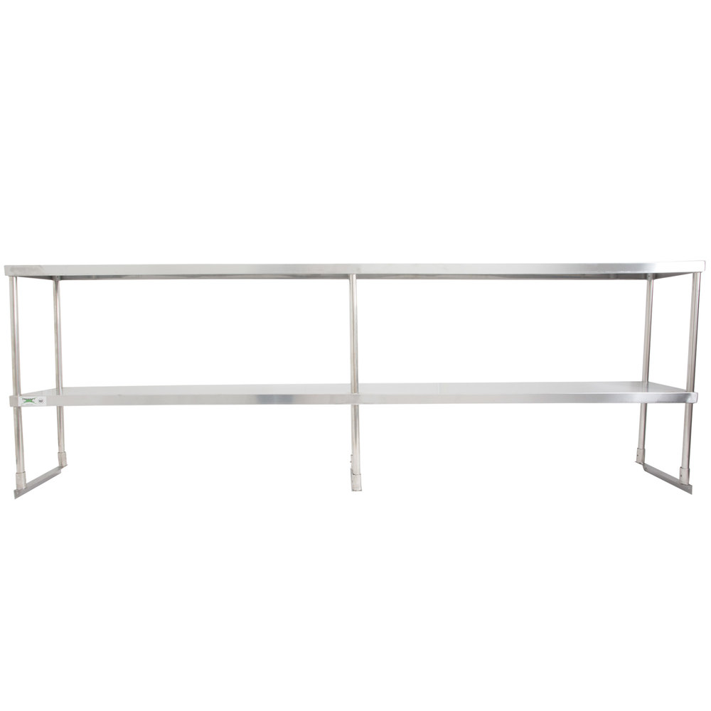 Regency Stainless Steel Double Deck Overshelf - 12 inch x 96 inch x 32 inch
