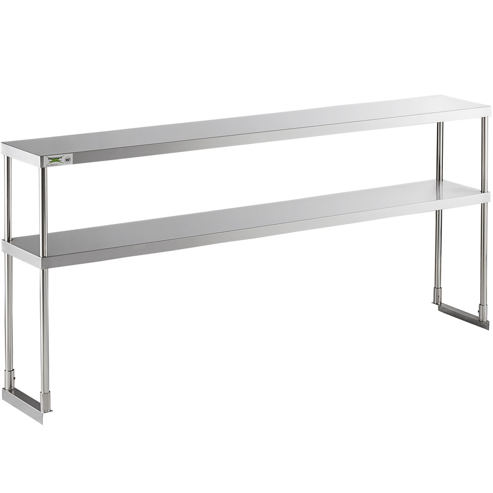 Regency Stainless Steel Double Deck Overshelf - 12 inch x 72 inch x 32 inch