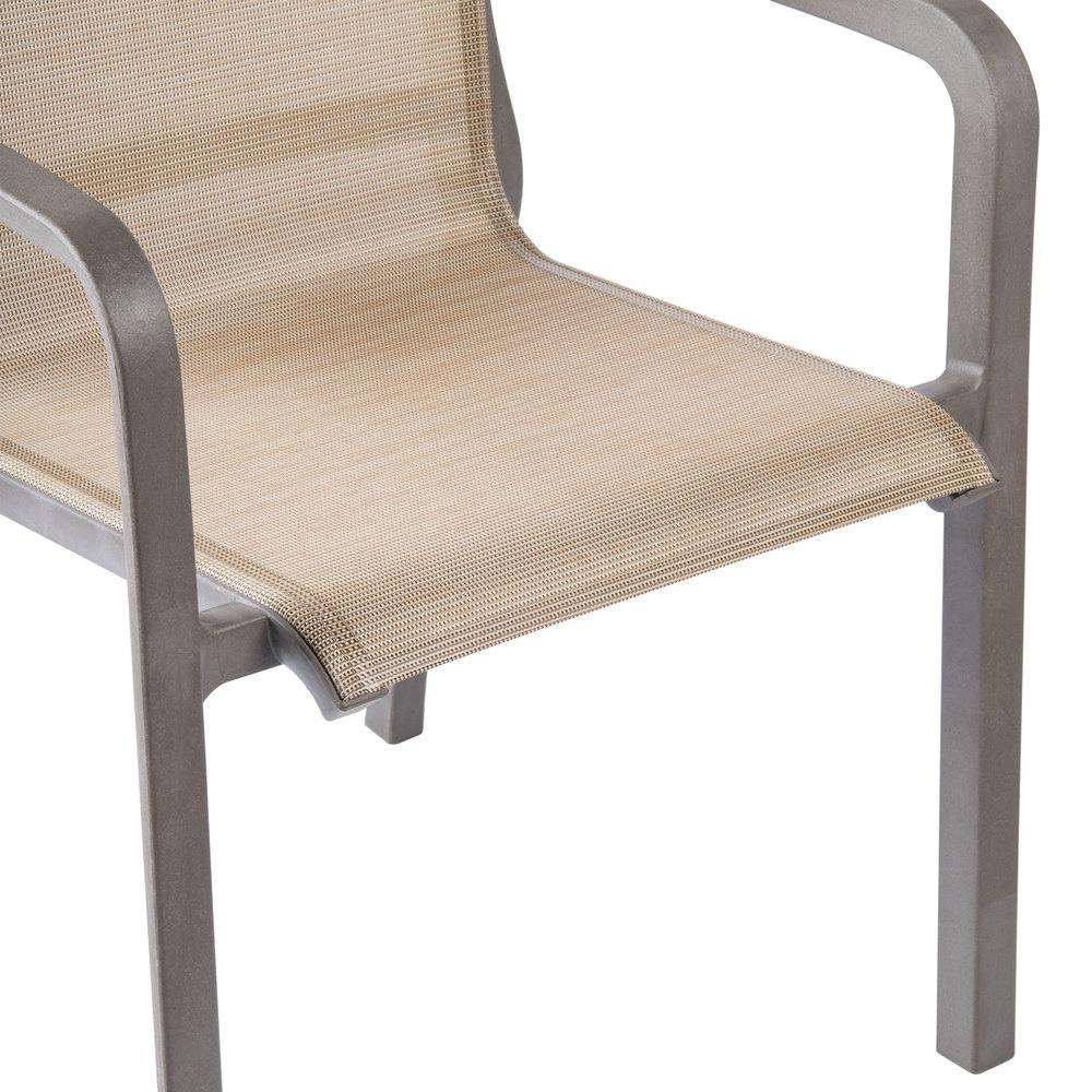 grosfillex xa643599 us643599 monte carlo cognac fusion bronze outdoor stacking armchair - Grosfillex