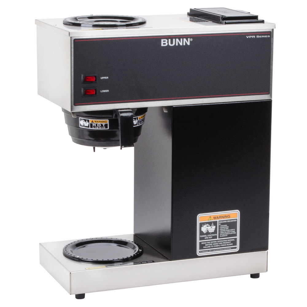 Coffee Maker Reviews Bunn : Bunn 33200.0000 VPR 12 Cup Pourover Coffee Brewer with 2 Warmers - 120V