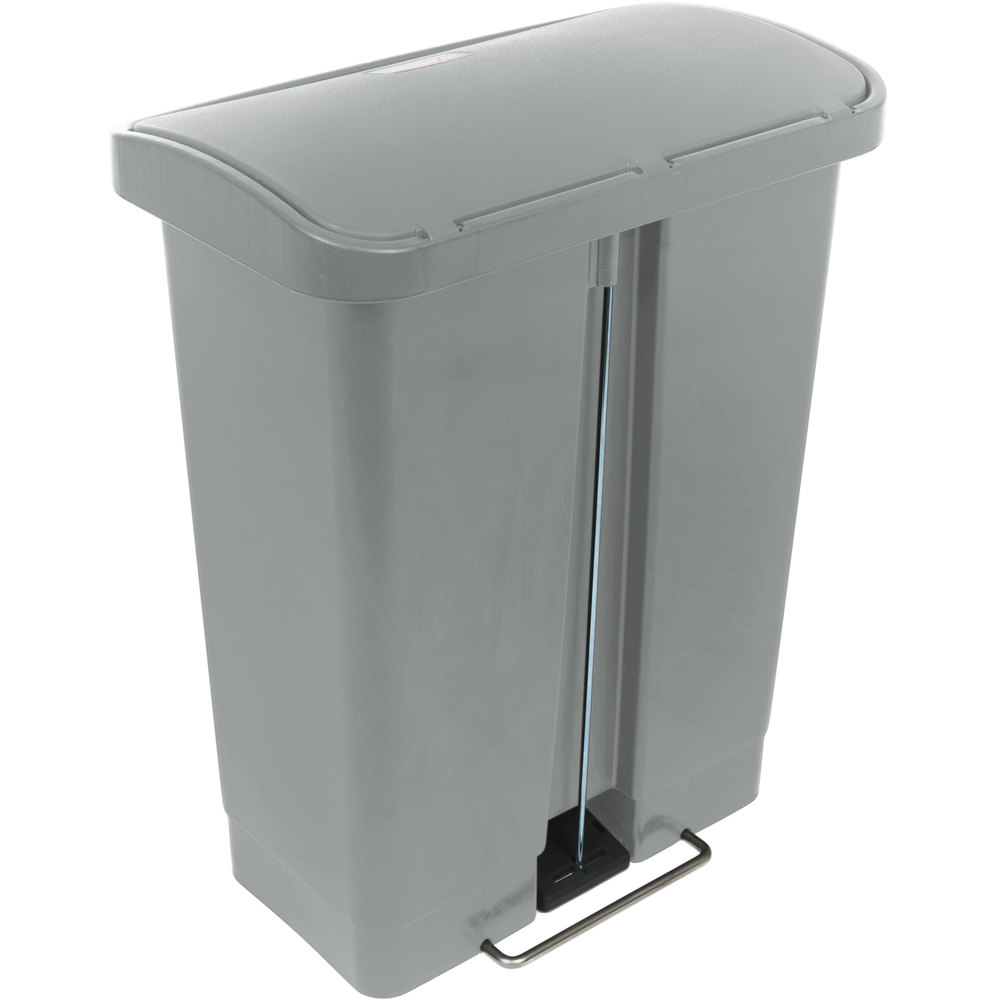 rubbermaid 1883600 slim jim resin gray front step on trash can 8 gallon. Black Bedroom Furniture Sets. Home Design Ideas