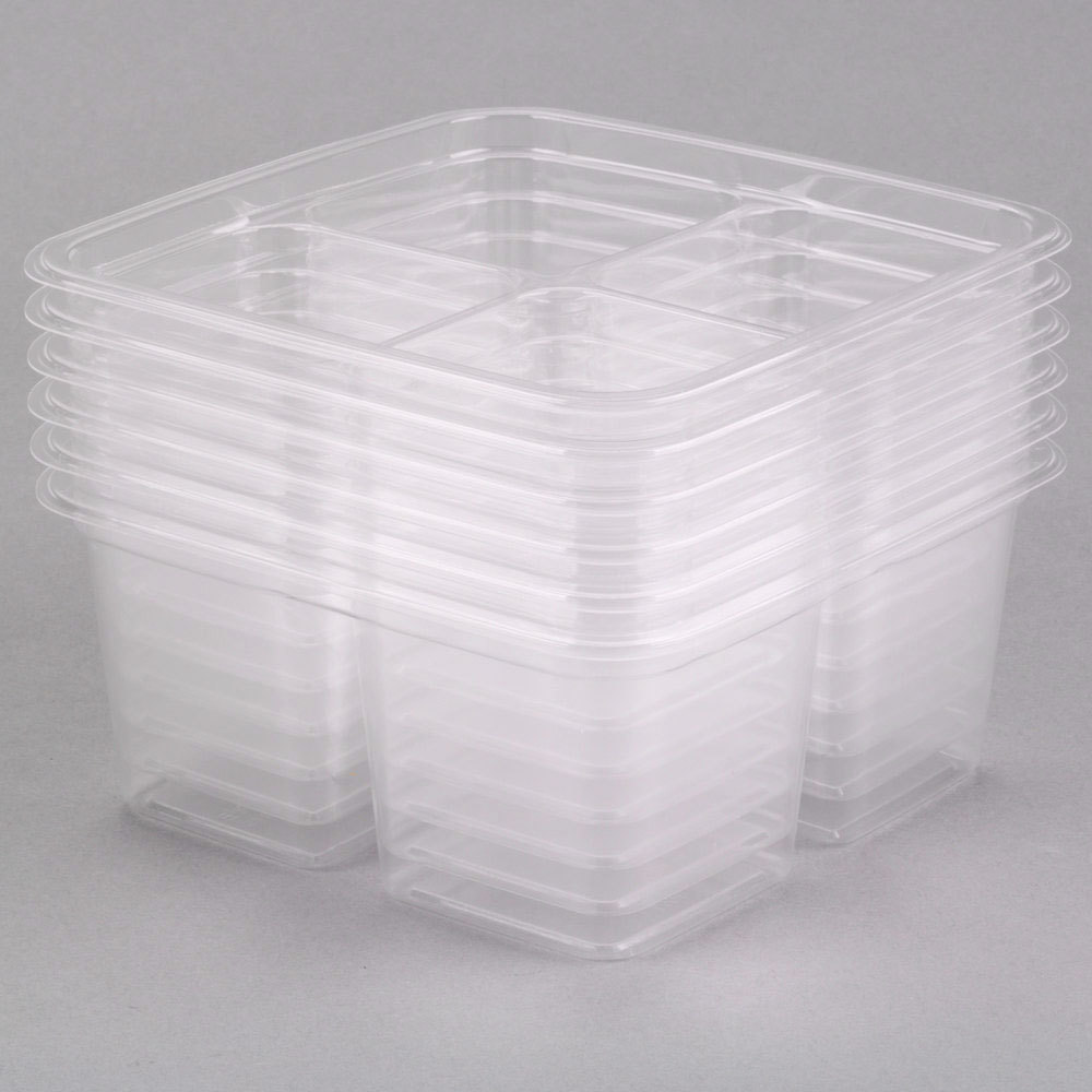 Fabri Kal Greenware Gs6 4 4 Compartment Clear Pla Plastic