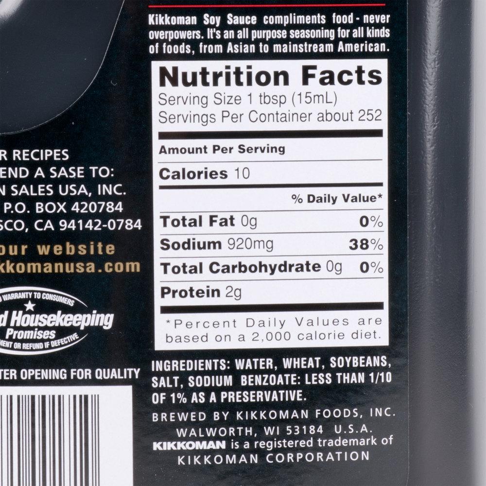 Kikkoman soy sauce ingredient list