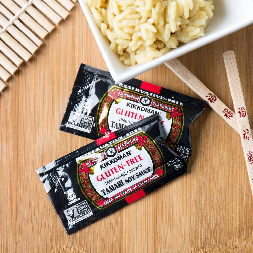 Kikkoman 6 mL Gluten Free Tamari Soy Sauce - 200/Case