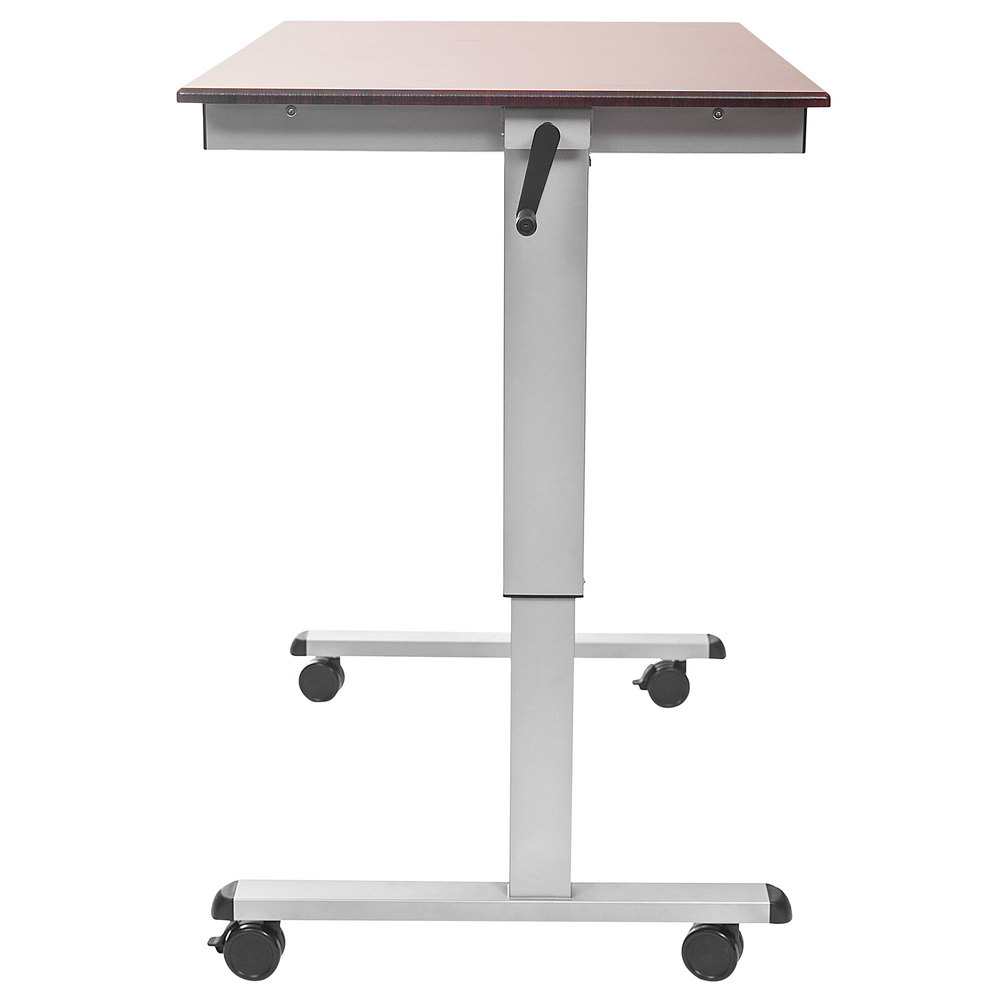 Luxor Standup Cf48 Dw Adjustable Standing Desk With Silver