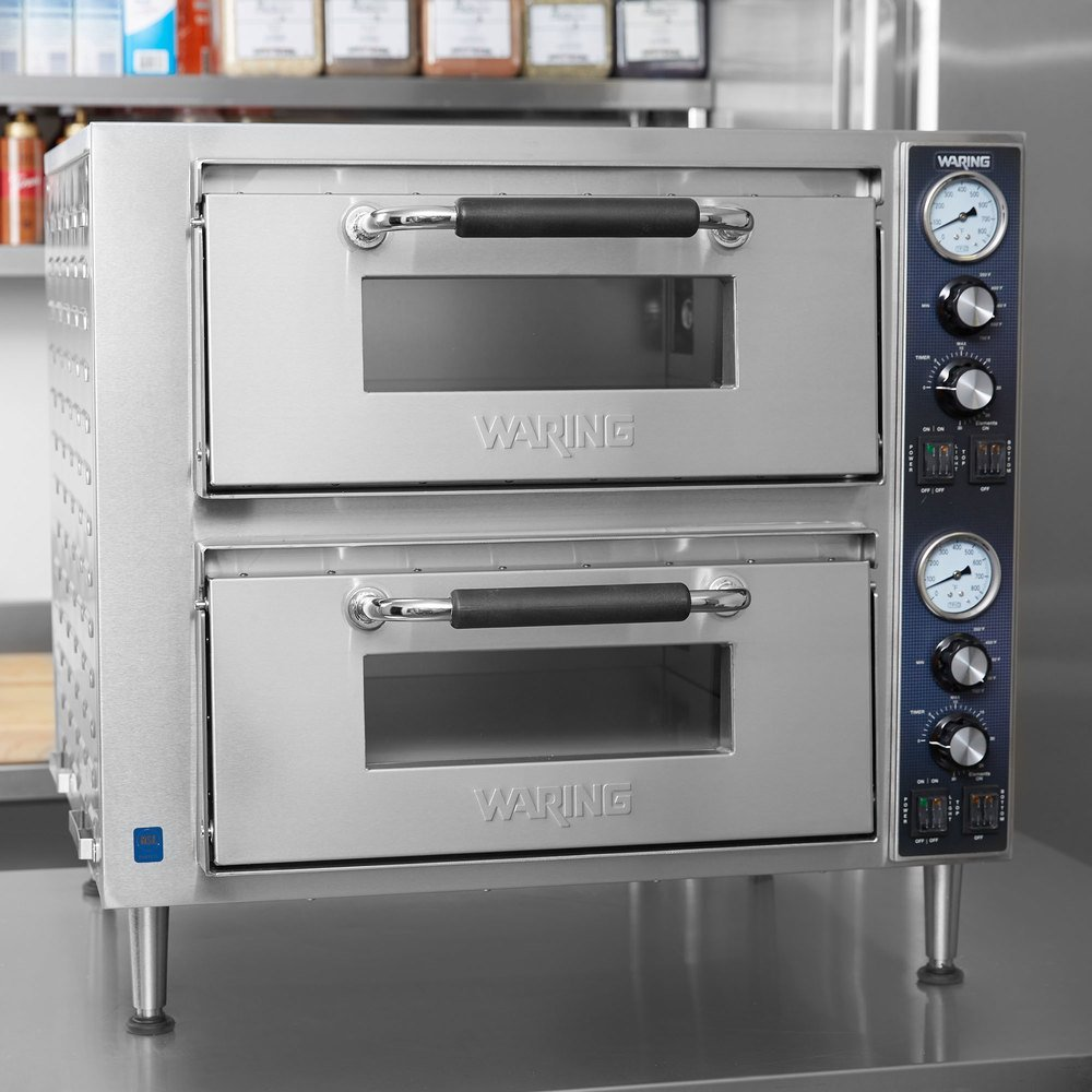 Waring Wpo750 Double Deck Countertop Pizza Oven With Two